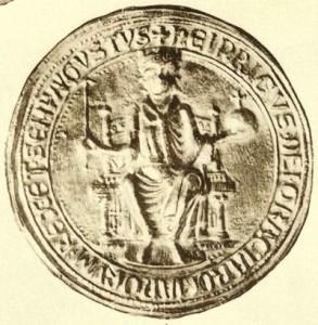 Het zegel van Heinrich Raspe de tegenkoning der Romeinen (afbeelding door: Otto Posse)