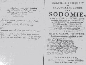 """In dit geschrift stonden allerlei """"oplossingen"""" voor sodomie. Rudolf de Mepsche heeft het zeker bestudeerd..."""