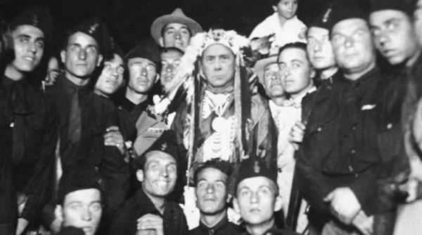 Edgar Laplante met zijn fascistische vriendjes