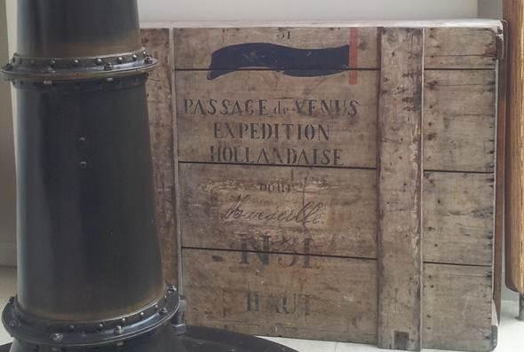 Ook Nederland stuurde een expeditie, zoals uit deze kist blijkt.
